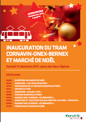 inauguration tram genève, inauguration suisse, organisation inauguration, organisation évènement genève